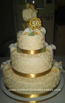 50th Wedding Anniversary Cakes.Coolest 50th Wedding Anniversary Cake Design