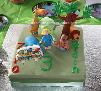 Homemade 64 Zoo Lane Birthday Cake