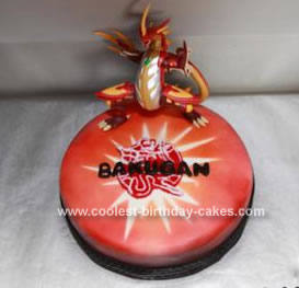 Homemade 6th Birthday Bakugan Cake
