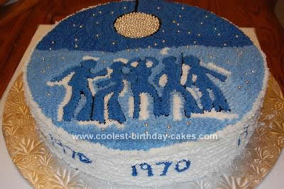 I Made This 70s Disco Cake For A Friend Of Mine Who Was Turning 40 When Her Sister Asked Me Some Ideas Ended Up Going Through Clip Art