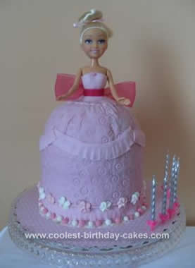 Superb Coolest 7Th Birthday Princess Doll Cake Personalised Birthday Cards Epsylily Jamesorg