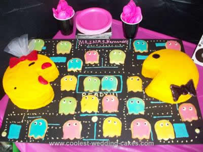 80s Pacman Bridal Shower Cake
