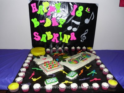 Homemade 80's Theme Cake
