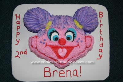 Homemade Abby Cadabby Character Birthday Cake