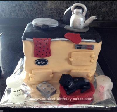 Homemade Aga Birthday Cake