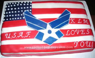 Homemade Air Force Cake