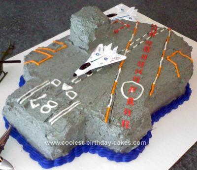 Homemade Aircraft Carrier Birthday Cake