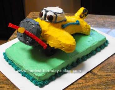 Homemade Airplane Birthday Cake
