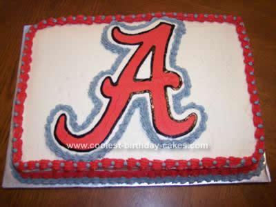 Coolest Alabama Crimson Tide Emblem Cake