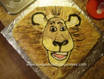 Homemade Alex the Lion Cake
