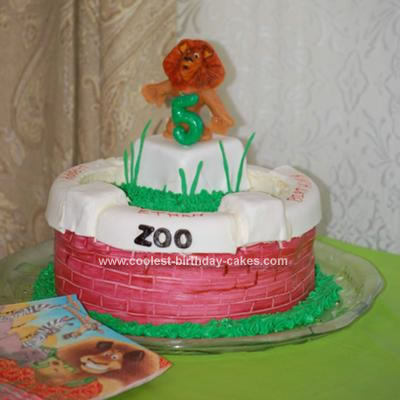 Homemade Alex the Lion from Madagascar Cake