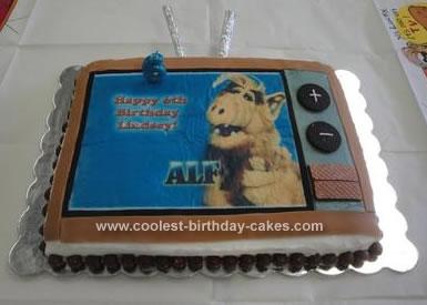 Homemade Alf Birthday Cake