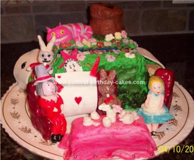 Homemade Alice In Wonderland Tea Party Cake