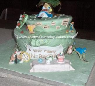 Homemade Alice in Wonderland Cake