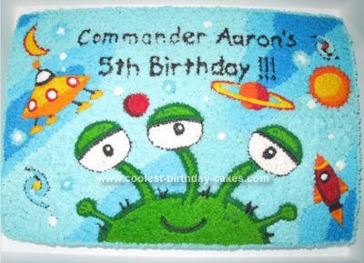 Homemade Alien Cake