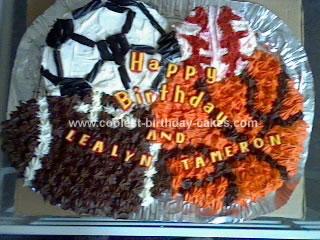 Homemade All Star Birthday Cake