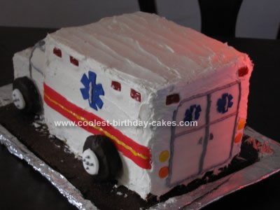 Homemade Ambulance Birthday Cake Design