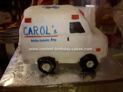 Homemade  Ambulance Cake