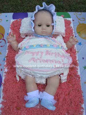 Homemade American Girl Bitty Baby 1st Birthday Cake