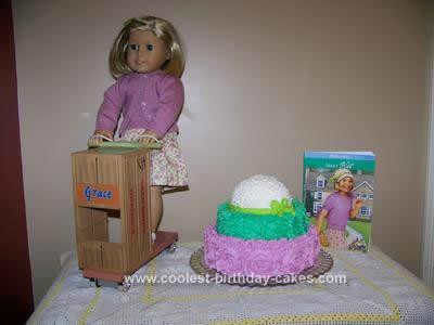 Homemade American Girl Kit Kittredge Cake