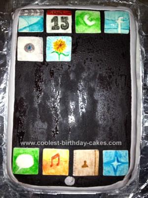 Homemade iPod Cake