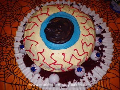 Homemade Eyeball Cake