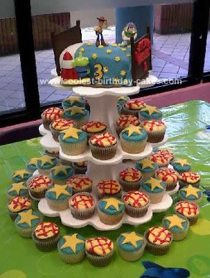 Homemade Andy's Bed Toy Story Birthday Cake