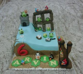 Remarkable Coolest Angry Birds 6Th Birthday Cake Funny Birthday Cards Online Barepcheapnameinfo