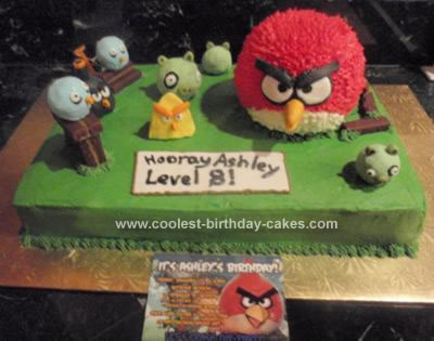 Stupendous Coolest Homemade Angry Birds Cake For An 8Th Birthday Party Funny Birthday Cards Online Fluifree Goldxyz