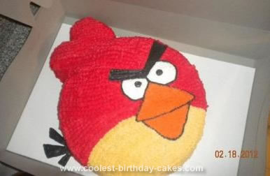 Marvelous Cool Homemade Red Bird Angry Birds Birthday Cake Funny Birthday Cards Online Elaedamsfinfo