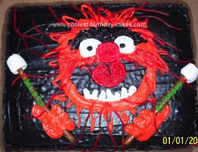 Homemade Animal from the Muppets Cake