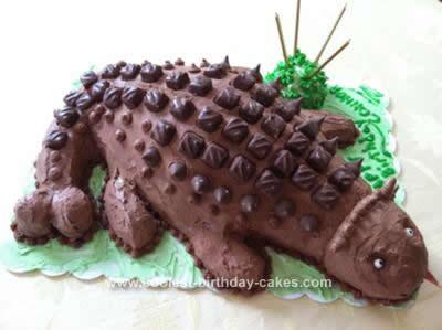 Homemade Ankyosaurus Dinosaur Cake