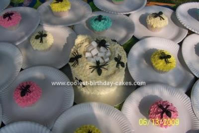 Homemade  Ants Cake and Cupcakes