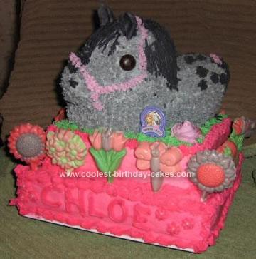 Homemade Appaloosa Horse Cake