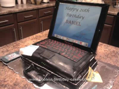Homemade Apple Laptop Cake