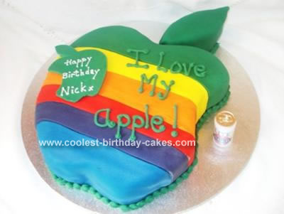 Swell Coolest Apple Mac Cake Funny Birthday Cards Online Fluifree Goldxyz