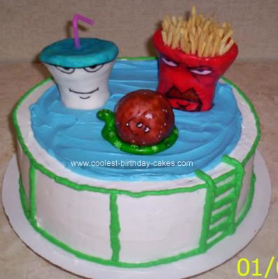 Homemade Aqua Teen Hunger Force Cake