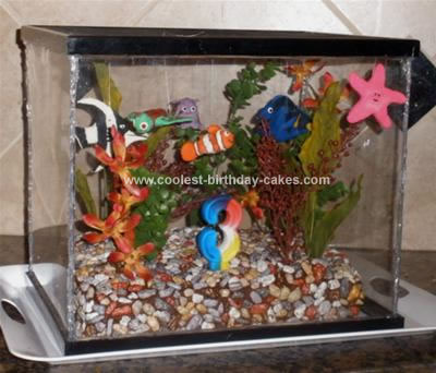 Homemade Aquarium Birthday Cake