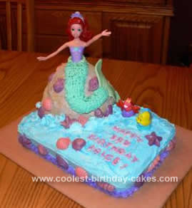 Remarkable Coolest Homemade Ariel Birthday Cake Funny Birthday Cards Online Alyptdamsfinfo