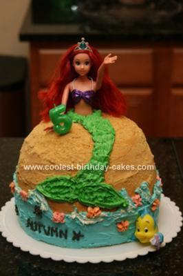 Homemade Ariel Cake