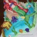 Homemade Ariel Little Mermaid Cake