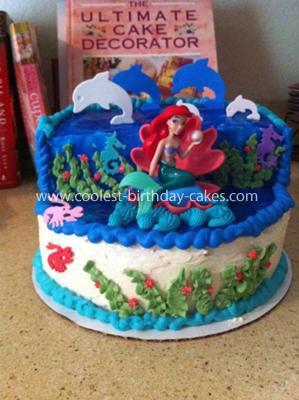 Homemade Ariel Mermaid Homemade Birthday Cake