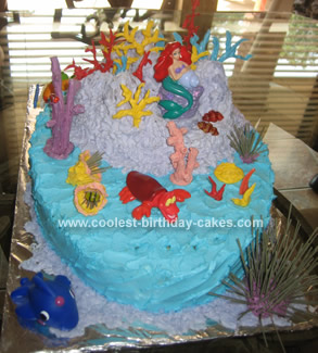 Homemade Ariel Under the Sea Birthday Cake