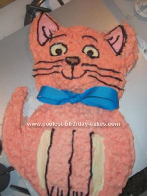 Homemade Aristocats Toulouse Cake