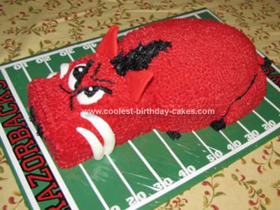 Homemade  Arkansas Razorback Cake