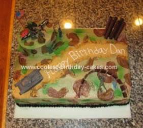 Homemade  Army Battlefield Cake