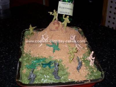 Homemade Army Birthday Cake