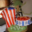 Homemade Army Patriotic Cake