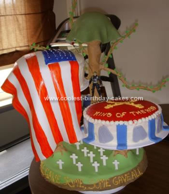 Homemade Army Patriotic Cake