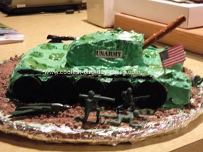 Homemade US Army Tank Cake
